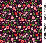 floral seamless pattern with... | Shutterstock .eps vector #1064191988