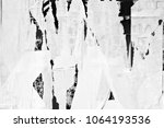 old ripped torn grunge posters...   Shutterstock . vector #1064193536