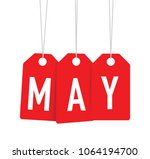 red may tags | Shutterstock .eps vector #1064194700