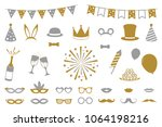 party icons isolated on white... | Shutterstock .eps vector #1064198216