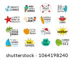 collection of summer icons  ... | Shutterstock .eps vector #1064198240