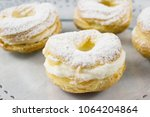 choux filled with pastry cream... | Shutterstock . vector #1064204864