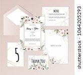 vector set of vintage floral...   Shutterstock .eps vector #1064205293