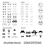 make your own character emoji... | Shutterstock .eps vector #1064205560