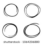 hand drawn circle sketch set... | Shutterstock .eps vector #1064206880