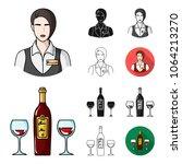 restaurant and bar cartoon... | Shutterstock .eps vector #1064213270