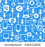 vector background of the icons... | Shutterstock .eps vector #106421834