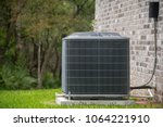 hvac air conditioning unit on... | Shutterstock . vector #1064221910
