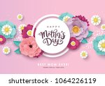 happy mother's day greeting... | Shutterstock .eps vector #1064226119