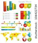 world map and information... | Shutterstock .eps vector #106422734