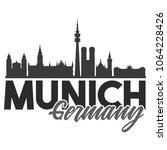munich germany skyline souvenir ... | Shutterstock .eps vector #1064228426