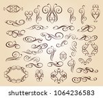 set design elements. vector... | Shutterstock .eps vector #1064236583