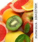 ripe fruit for a healthy diet   Shutterstock . vector #1064237009