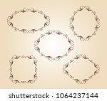 elegant frame.vector... | Shutterstock .eps vector #1064237144