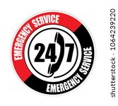 247 emergency service sticker... | Shutterstock .eps vector #1064239220