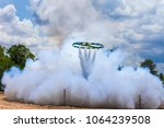 ancient style bamboo rocket... | Shutterstock . vector #1064239508