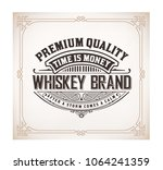 original label with floral... | Shutterstock .eps vector #1064241359