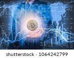 modern way of exchange. bitcoin ... | Shutterstock . vector #1064242799