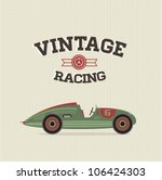 vector vintage sport racing car | Shutterstock .eps vector #106424303