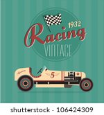 vector vintage sport racing car | Shutterstock .eps vector #106424309