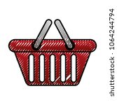 shopping basket market... | Shutterstock .eps vector #1064244794