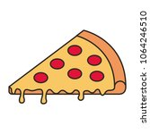 delicious pizza fast food   Shutterstock .eps vector #1064246510