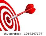 darts target. success business... | Shutterstock .eps vector #1064247179
