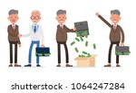 businessman character vector... | Shutterstock .eps vector #1064247284