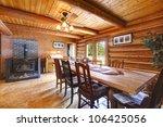 Log Cabin Rustic Living Room...