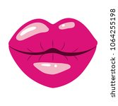female lips sensuality icon | Shutterstock .eps vector #1064255198