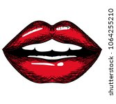 female lips sensuality icon | Shutterstock .eps vector #1064255210