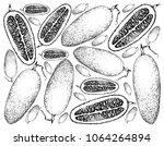 vegetable and fruit ... | Shutterstock .eps vector #1064264894