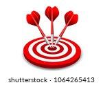 darts target. success business...   Shutterstock .eps vector #1064265413