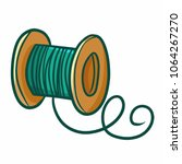 funny and cute green yarn for... | Shutterstock .eps vector #1064267270
