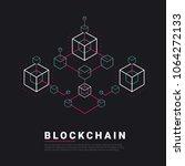blockchain line icon logo... | Shutterstock .eps vector #1064272133