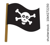 jolly roger flag cartoon....   Shutterstock .eps vector #1064272250