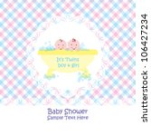 baby arrival announcement card  ... | Shutterstock .eps vector #106427234