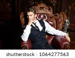 imposing well dressed man in a...   Shutterstock . vector #1064277563