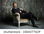 portrait of a handsome man in... | Shutterstock . vector #1064277629