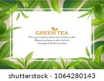 green tea leaves manu and... | Shutterstock .eps vector #1064280143