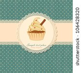 background with cupcake and lace | Shutterstock .eps vector #106428320