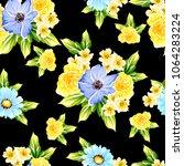 abstract elegance seamless... | Shutterstock . vector #1064283224