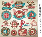 collection of vintage retro... | Shutterstock .eps vector #106428773