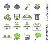 hydroponic icon set.plant... | Shutterstock .eps vector #1064288030