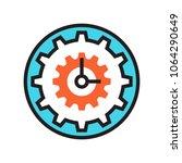 clock icon gear cog wheel time | Shutterstock .eps vector #1064290649
