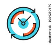 clock icon 24 hours work day | Shutterstock .eps vector #1064290670