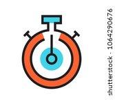 clock icon stopwatch deadline... | Shutterstock .eps vector #1064290676