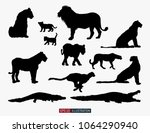 african animals silhouettes set.... | Shutterstock .eps vector #1064290940