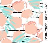 tropical  stripe  animal motif. ... | Shutterstock .eps vector #1064293664