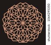 mandala. circular ornament.... | Shutterstock .eps vector #1064295350